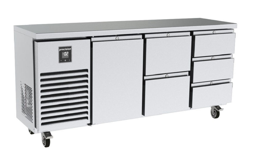 Picture of Precision 3 Section Counter Fridge